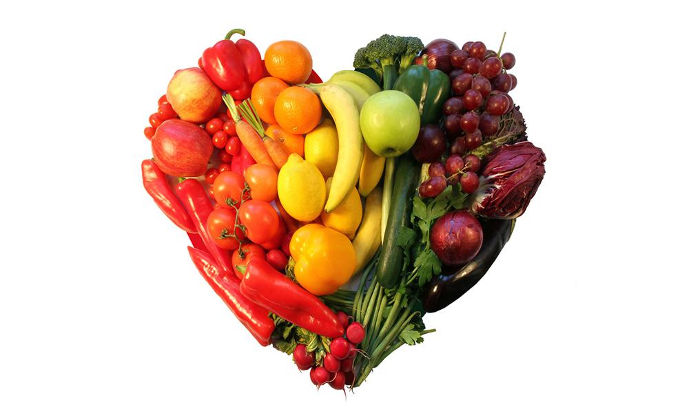 Cuore di frutta e verdura