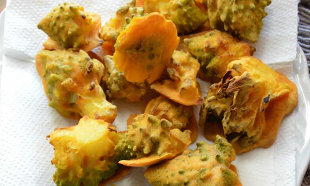 Broccoli croccanti con curcuma e paprika