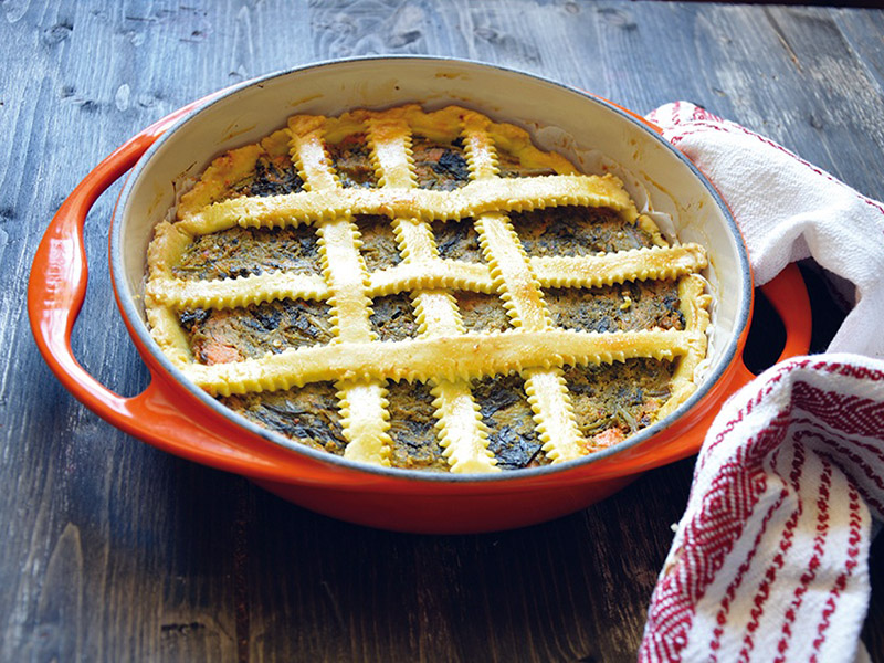 Crostata di broccoletti ripassati