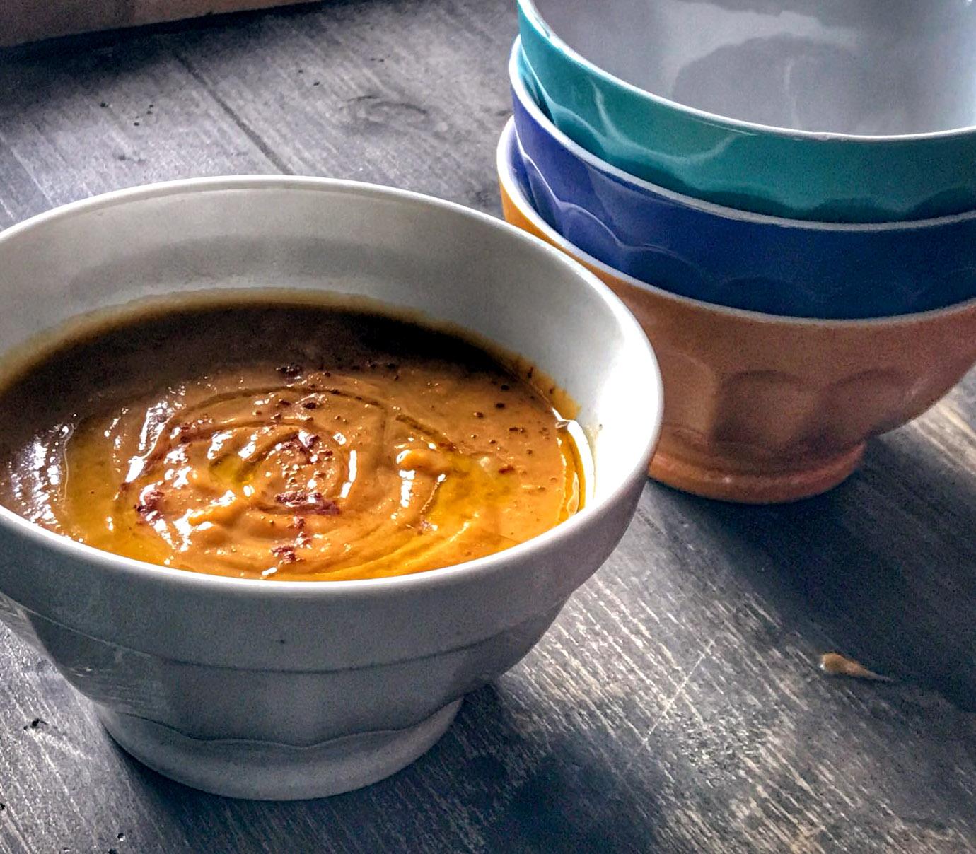 Zuppa di batate, cannella e zenzero