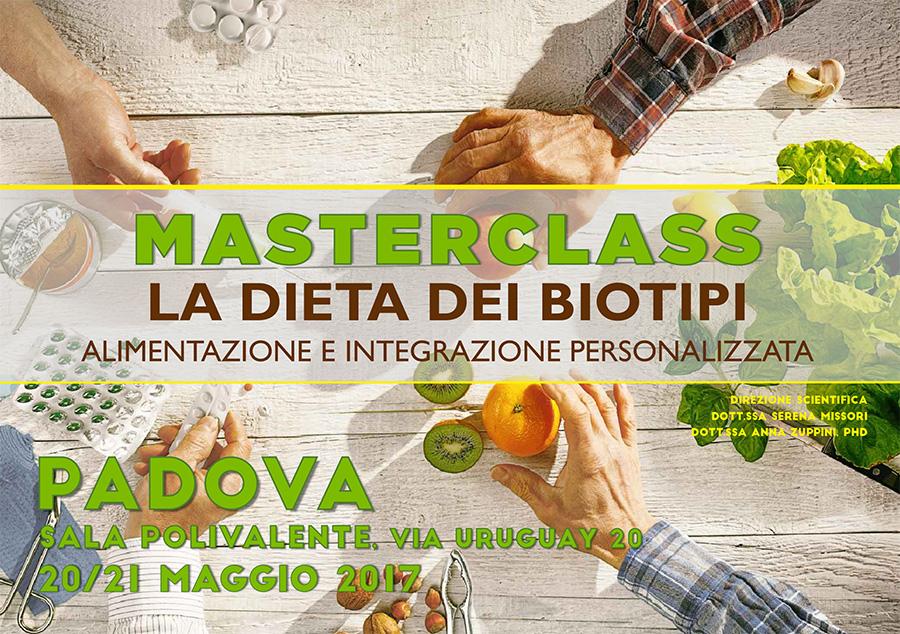 Masterclass - Dieta dei Biotipi