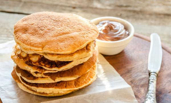 Pancake con mousse al cacao